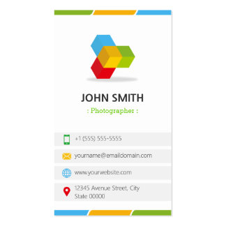 Photographer - Colorful with QR Code Double-Sided Standard Business Cards (Pack Of 100)