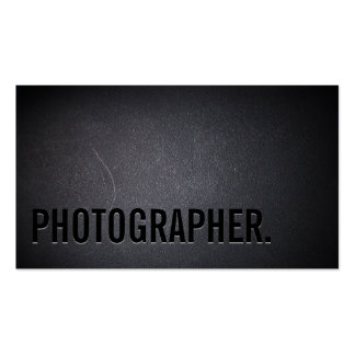 Photographer Cool Bold Text Professional Dark Double-Sided Standard Business Cards (Pack Of 100)