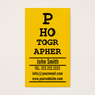 Photographer Creative Typographic Photography Business Card