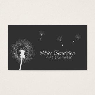 Photographer Dark Gray Dandelion Photography Business Card