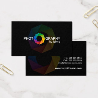 Photographer Design with Shutter Business Card