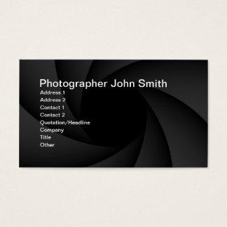 Photographer diaphragm business card