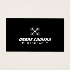 Photographer Drone Aerial Video & Photography Business Card at Zazzle