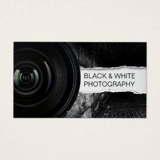 Photographer Elegant Black & White Photography Business Card