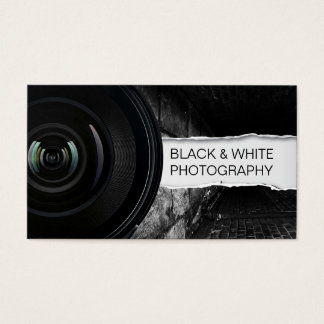 Photographer Elegant Black & White Photography Business Card