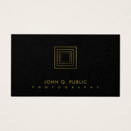Photographer Elegant Gold Look Photography Luxury Business Card