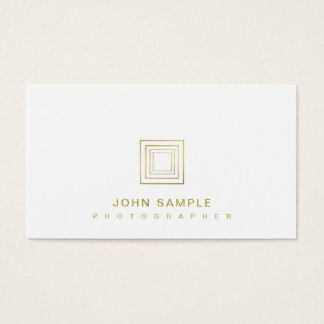 Photographer Elegant Photography Stylish Gold Look Business Card