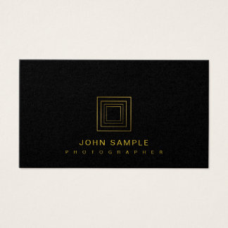 Photographer Elegant Photography Stylish Luxury Business Card