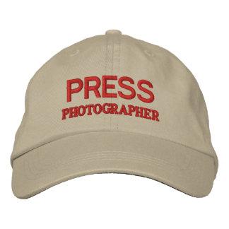 PHOTOGRAPHER EMBROIDERED BASEBALL HAT