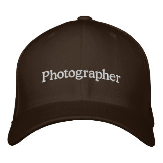 Photographer Embroidered Baseball Cap