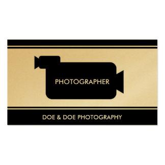 Photographer Filmmaker Photography Black/Gold Business Card