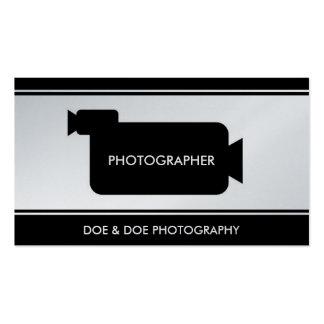 Photographer Filmmaker Photography Black/Platinum Business Card