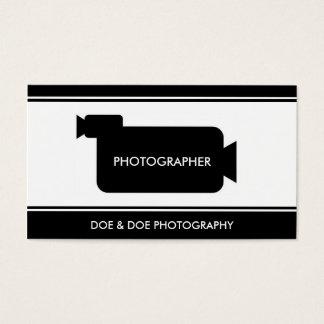 Photographer Filmmaker Photography Black/White Business Card