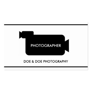 Photographer Filmmaker Photography Classic White Business Card