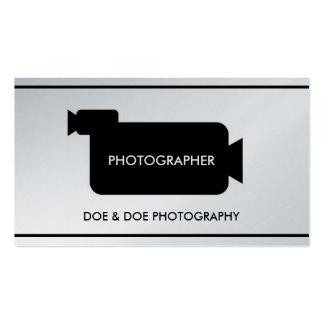 Photographer Filmmaker Photography Platinum Paper Business Card