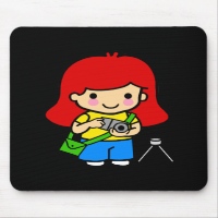 Photographer Girl 1 Mouse Pads