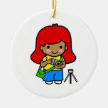 Photographer Girl 2 Christmas Tree Ornament