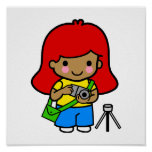 Photographer Girl 2 Posters