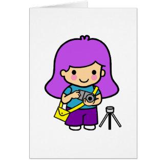 Photographer Girl Card