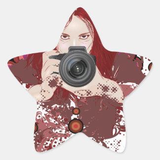 Photographer girl star sticker
