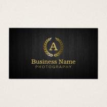 Photographer Gold Monogram Photography Business Card
