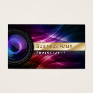 Photographer Gold Striped Aurora Modern Business Card