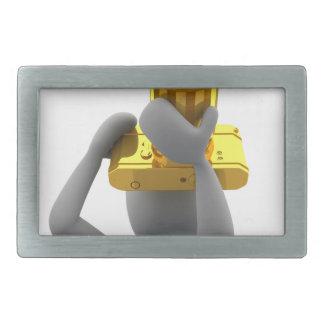 photographer golden camera belt buckle