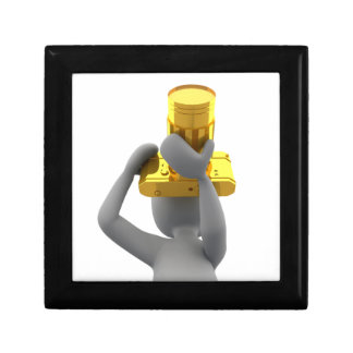 photographer golden camera keepsake box