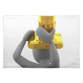 photographer golden camera placemat