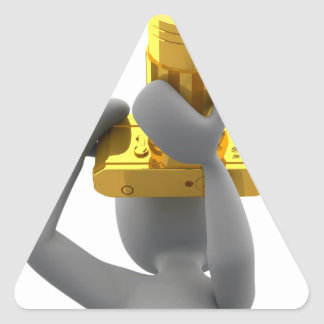 photographer golden camera triangle sticker
