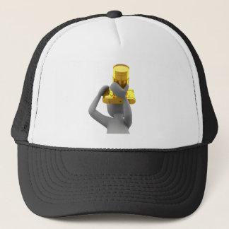 photographer golden camera trucker hat