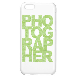 Photographer - Green Text iPhone 5C Case