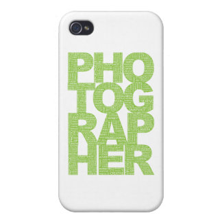 Photographer - Green Text Covers For iPhone 4