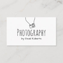 Photographer Hand Script Minimalist Business Card