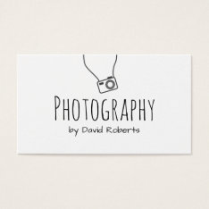 Photographer Hand Script Minimalist Business Card at Zazzle