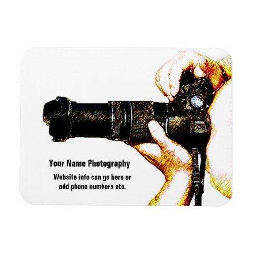 Photographer Holding DSLR Camera Vinyl Magnet
