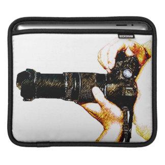 Photographer Holding DSLR Camera Sleeve For iPads