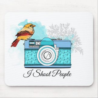Photographer/I shoot people Mouse Pads