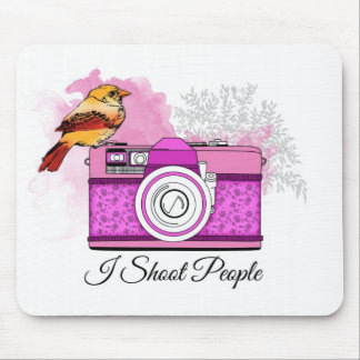 Photographer/I shoot people Mousepads