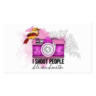 Photographer / I shoot people Tarjetas De Visita