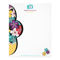 Photographer In Bloom Business Letterhead