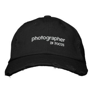 Photographer In Focus Hat Baseball Cap