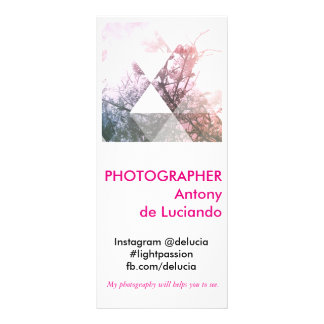 Photographer in Square format Rack Card Template
