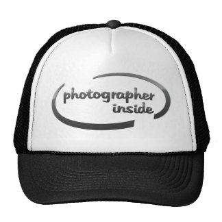 Photographer inside design trucker hat