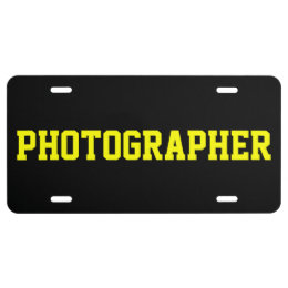 PHOTOGRAPHER LICENSE PLATE
