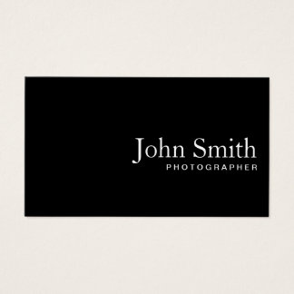Photographer Minimalist Black QR Code Business Card
