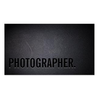 Photographer Minimalist Bold Text Photography Business Card
