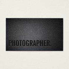 Photographer Minimalist Bold Text Photography Business Card at Zazzle