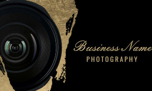 Photography business cards zazzle photographer modern black gold photography business card reheart Choice Image