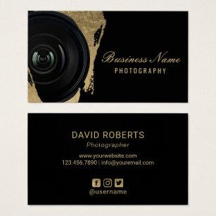 Photography business cards templates zazzle photographer modern black gold photography business card colourmoves
